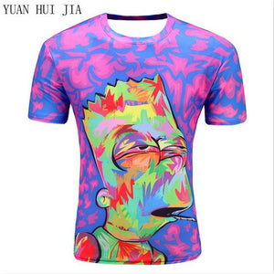 2017 new galaxy space 3D t shirt lovely kitten cat eat pizza funny tops tee short sleeve summer shirts for men dropship - and Hemp flowers UK