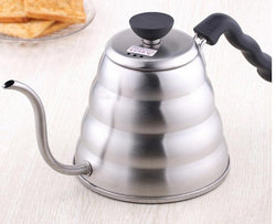 1pc 1.0L Hario Style Tea and Coffee Drip Kettle pot stainless steel gooseneck spout Fine mouth coffee pot Kettle hot water