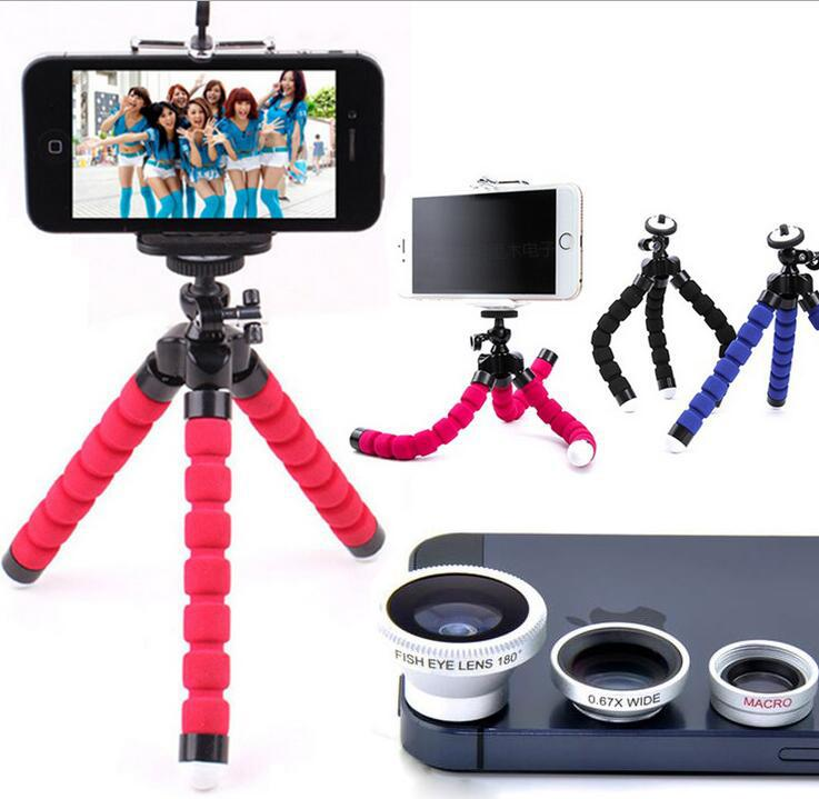NEW Mini Tripod Digital Camera Mobile Phone Stand Flexible Grip Octopus Monopod Flexible for Gopro Hero Digital With Lens kit - and Hemp flowers UK