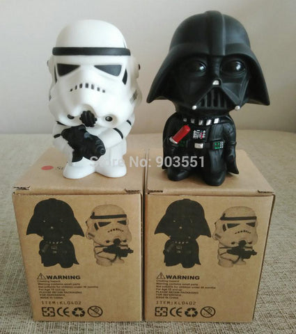 New 10cm one pcs Q Style Star War Darth Vader & STORM TROOPER Action Figure Model Toy Come without retail Box