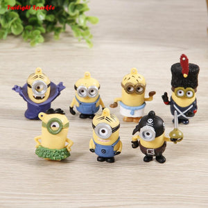 7pcs/set Despicable Me 2 Action Figures Toys Doll Retail Minions Jorge Stewart Dave boy toys best gift - and Hemp flowers UK