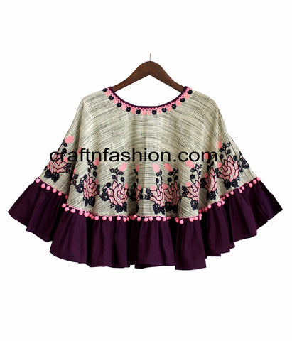 Winter Wear Designer Khadi Poncho