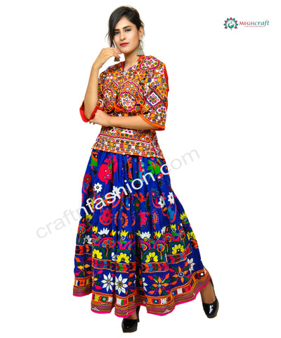Colorful Vintage Rabari Embroidery Chaniya