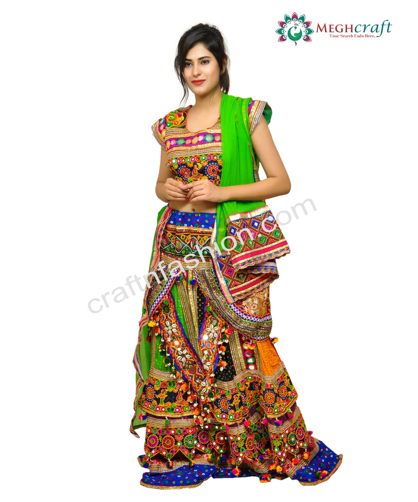 Banjara Style Belly Dance Ghaghra Choli