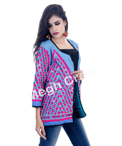 Indian Kutch  Mirror Work Banjara  Jacket