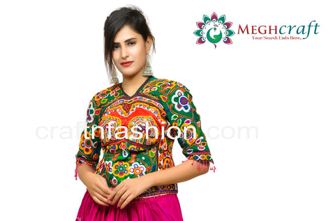 Handmade Banjara Style Kutch Backless Blouse