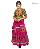 Indian Thread Embroidered Navratri Skirt