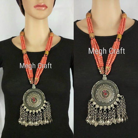 Vintage Kuchi Tribal Pearl Necklace