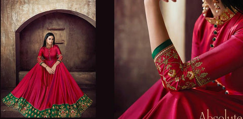 Indian Ethnic Wedding Wear Heavy Gown