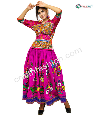 2018 Navratri Design Embroidered Skirt