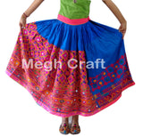 Bohemian Kutch Embroidered Rabari Skirt.