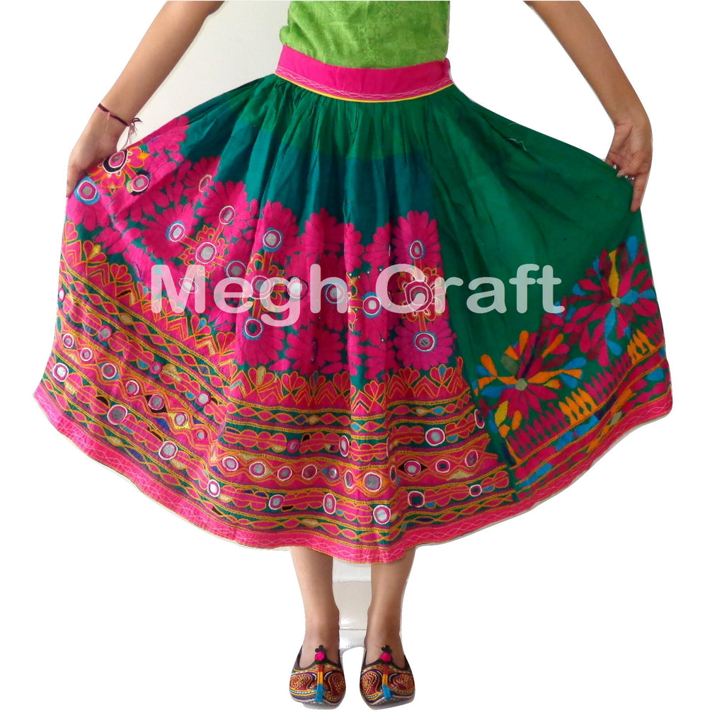 Hippie Bohemian Navratri Wear Girl's Skirt.