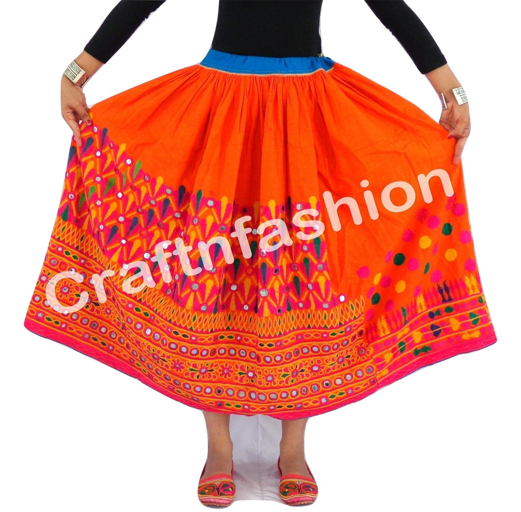 Kutch Designer Embroidered Rabari Skirt.