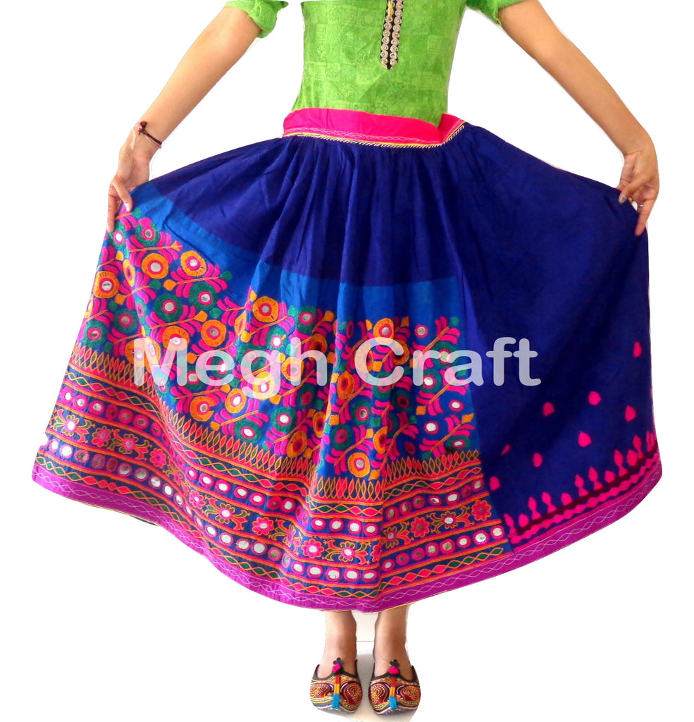 Navratri Wear Fashion Embroidered Skirt.