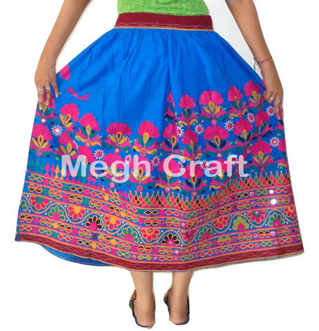 Indian Fusion Embroidered Ladies Skirt.