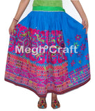Cotton Embroidered Banjara Skirt.