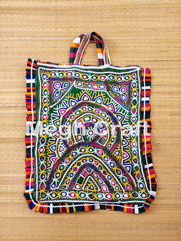 VINTAGE RABARI MIRROR WORK THELI BAG