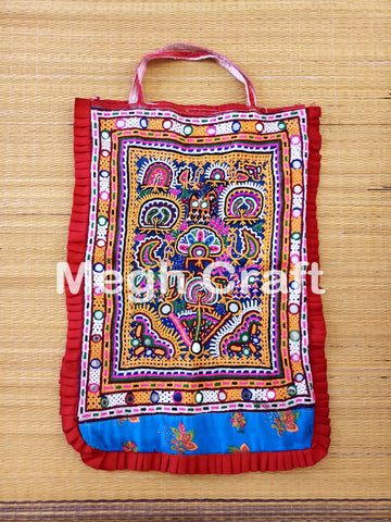 Vintage Gypsy Ethnic Mirror work  Theli  Bag