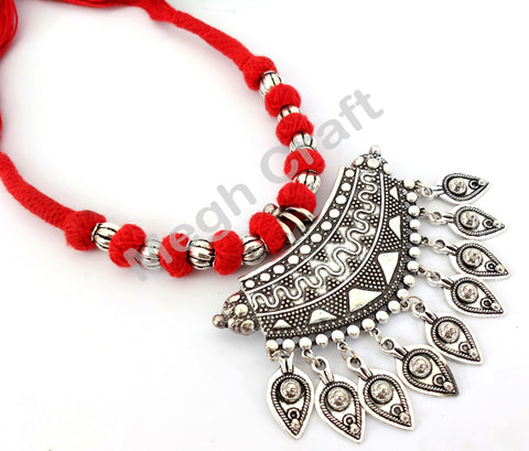 Gypsy Style Silver Plated necklace