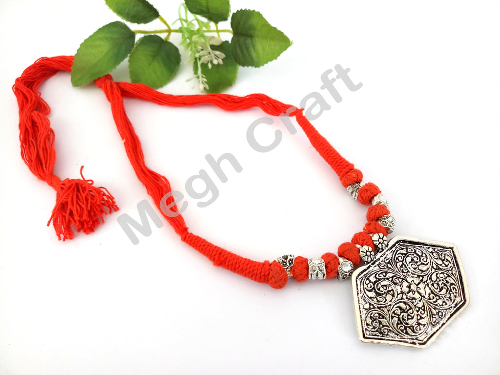 Hand-crafted Beaded Silver Necklaces