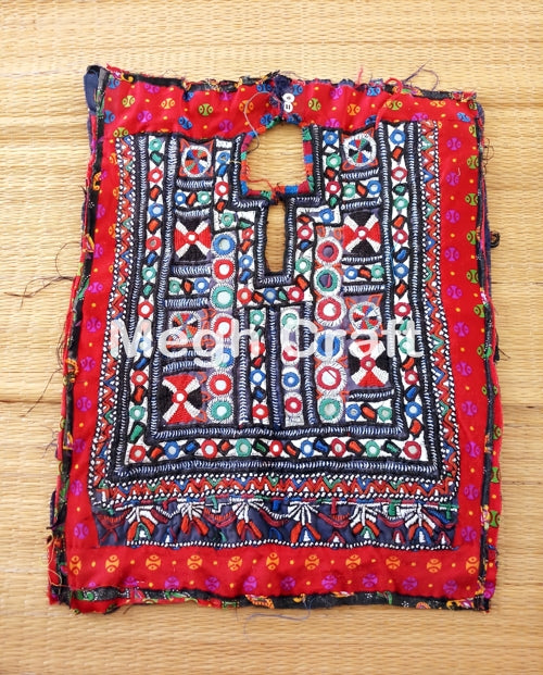 Vintage Hand Embroidered Gypsy Yock Neck
