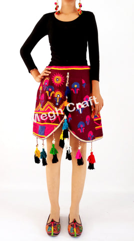 Indian banjara  ibiza boho short skirt