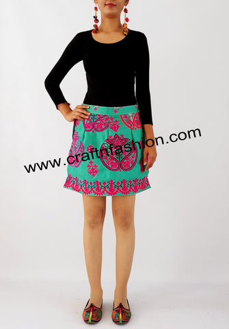 Hand Embroidery Bohemian Short Skirt