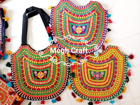 Wholesale Lot : -kutch embroidery elephant Style handbag bags - Indian banjara Boho Handbag bag- 10 Pieces