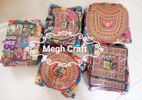 Wholesale Lot : - Gujarati traditional bohemian style Handbag - Vintage Banjara hippie style Handbag- 5 Pieces