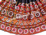 Indian Kutch Embroidered Mirror Work Skirt.