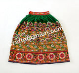 Tribal Embroidered Mirror Work Rabari Skirt.