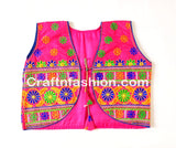 Banjara India Kutchi Short Choli Jacket (Floral)