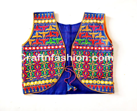 Designer embroidery jacket-vests