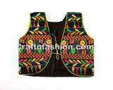 Ladies Sleeveless Embroidered Koti/Jacket