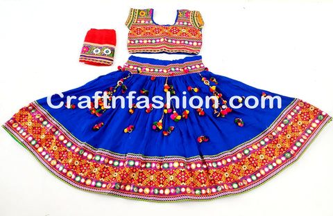 Indian Mirror work sanedo style 2017 Navratri Lehenga Choli