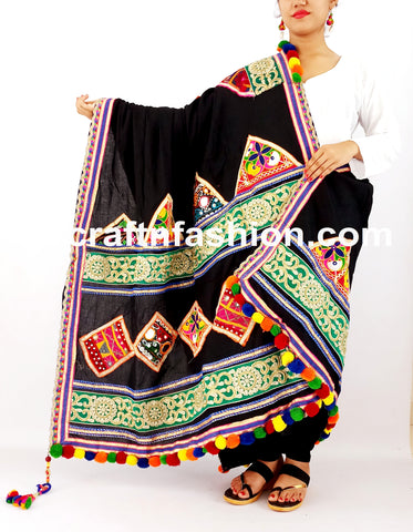 Gujarati Traditional Dandiya Dance Costume Dupatta