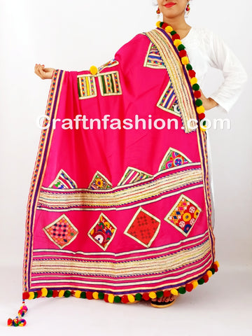 Cotton Thread Work Dupatta