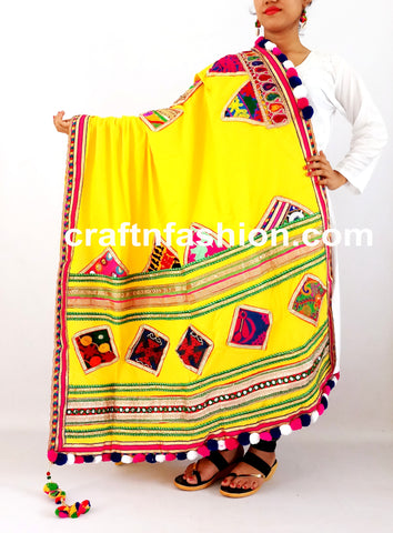 Embroidered Kutch Patches Dupatta