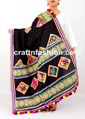 Beautifully handcrafted kutch work dupatta