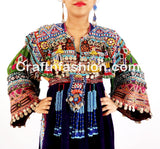 Afghan Traditional Balochi Coins With Tassels Dress