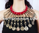 Afghan 1960s Kuchi Old Coin  Necklace