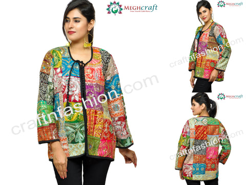 Dandiya Dance Wear Patch Work Jacket
