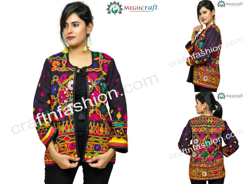 Kutch Embroidery Mirror Work Boho Jacket