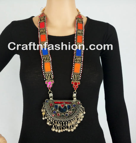 Afghani Boho Belly Dance Necklace set