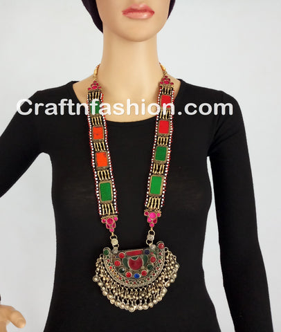 Afghani Kuchi Boho Hippie Necklace set