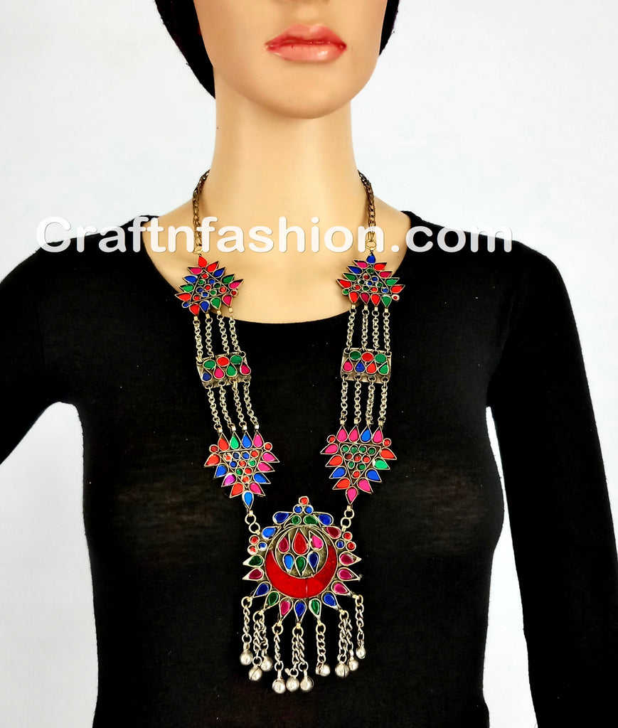 Antique Beautiful Style Afghan necklace