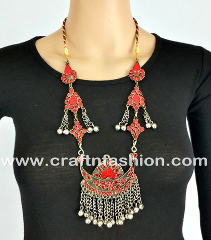 Multipurpose Afghani German Silver necklace