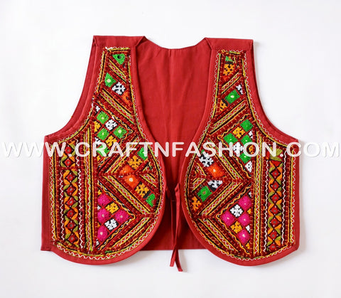 2018 Bollywood Style Kutchi Embroidered Shrug - koti