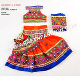Bohemian Kids Kutch Embroidered  Ghaghra Choli