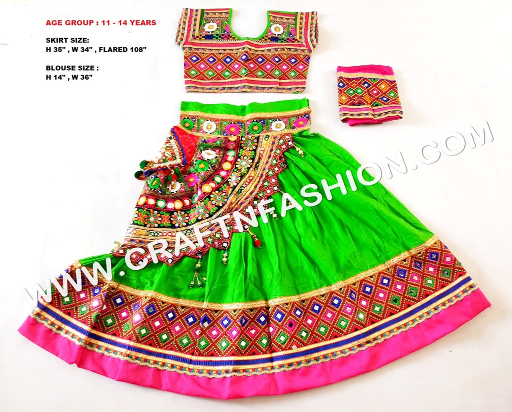 Vintage Dandiya Costume Dress For Kids